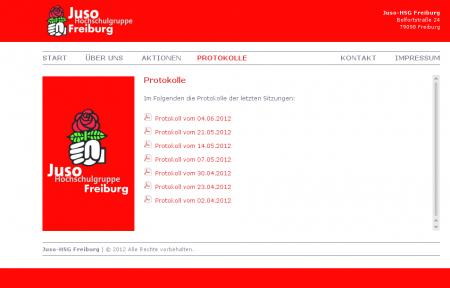 Juso-Webseite am 23. Juni 2013